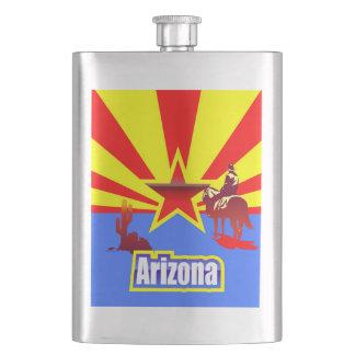 Arizona-Staats-Flaggen-Vintages Zeichnen Flachmann