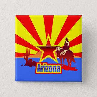 Arizona-Staats-Flaggen-Vintages Zeichnen Quadratischer Button 5,1 Cm