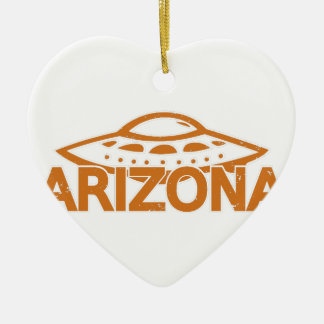 Arizona UFO Keramik Herz-Ornament