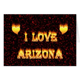 Arizonafeuer und -flammen der Liebe I Karte