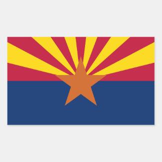 Arizonas Flagge Rechteckiger Aufkleber