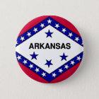 Arkansas-Flagge Runder Button 5,1 Cm