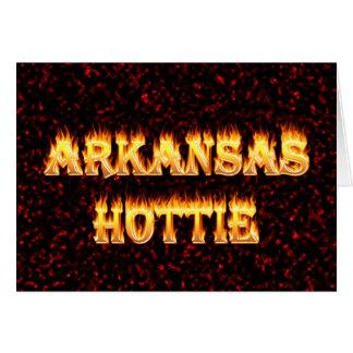 Arkansas hottie im Feuer und in den Flammen Karte