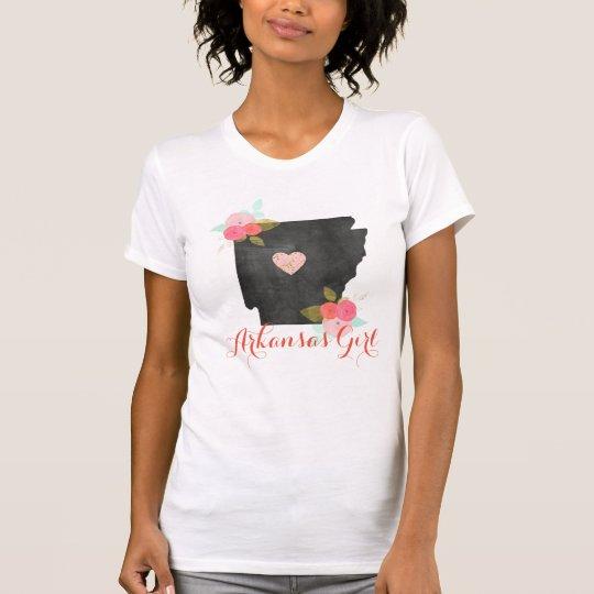 Arkansas-Mädchen-Aquarell-Blumen- u. bewegliches T-Shirt