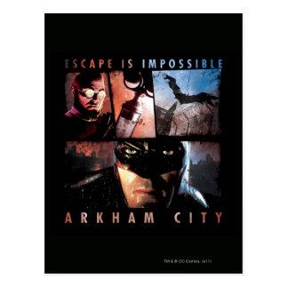 Arkham Stadt-Entweichen ist unmöglich Postkarte
