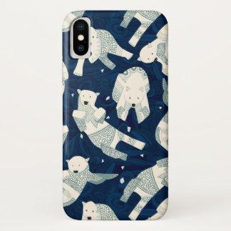 arktische Eisbären Mitternachts iPhone X Hülle