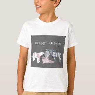 Arktische Freund-Feiertage T-Shirt