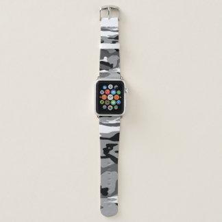 Arktische Schnee-Camouflage Apple Watch Armband