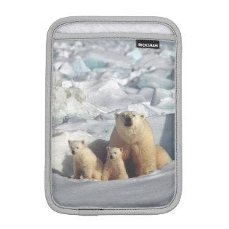 Arktische wild lebende Tiere Eisbär-CUBs MiniiPad iPad Mini Sleeve