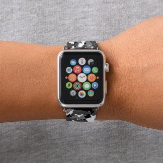 Arktische Winter-Camouflage Apple Watch Armband