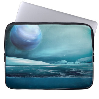 "Arktische Winter-Nachtmond-Laptop-Hülse 13"" Laptop Sleeve"