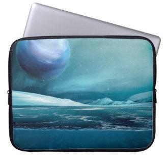 "Arktische Winter-Nachtmond-Laptop-Hülse 15"" Laptopschutzhülle"