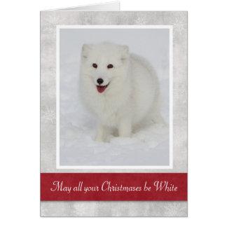 Arktischer Fox-Weihnachtskarte Grußkarte