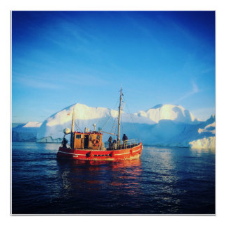 arktisches Fischenplakat Poster