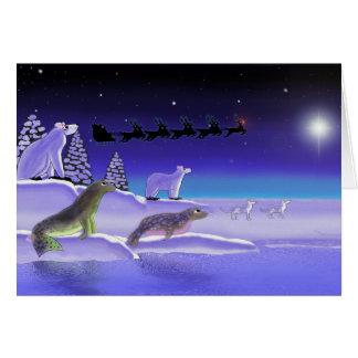 Arktisches Weihnachtsabend Karte