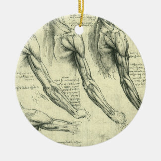 Arm-und Schulter-Anatomie durch Leonardo da Vinci Keramik Ornament