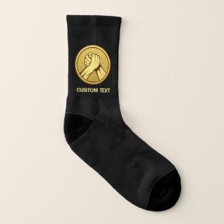 Arm-Wrestling Gold Socken