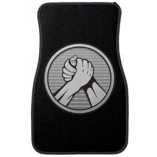Arm-Wrestling Silber Autofußmatte