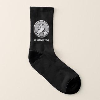 Arm-Wrestling Silber Socken