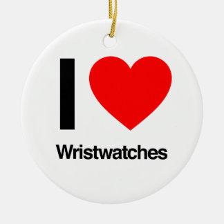Armbanduhren der Liebe I Keramik Ornament