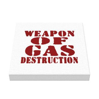 Arme de destruction de gaz impression sur toile