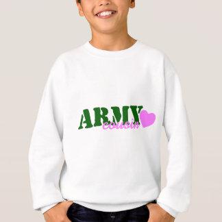 Armee-Cousin-Grün-Herz Sweatshirt
