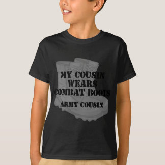 Armee-Cousin-Kampf-Stiefel T-Shirt