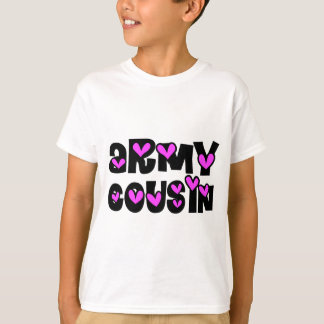 Armee-Cousin-Rosa-Herz T-Shirt