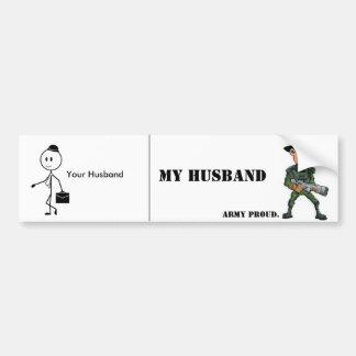 Armee-Ehefrau: Ihr Ehemann gegen meinen Ehemann Autoaufkleber