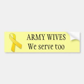 Armee-Ehefrauen dienen auch Autoaufkleber