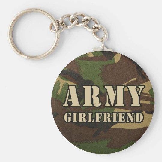 Armee-Freundin Standard Runder Schlüsselanhänger