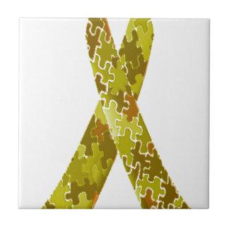 Armee-grünes Puzzle-Muster-Band Kleine Quadratische Fliese