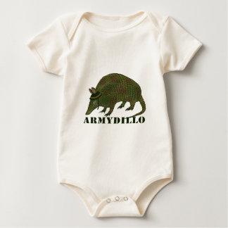 Armee-Gürteltier Baby Strampler
