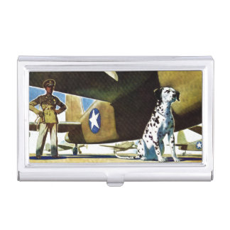 Armee-Hund Visitenkarten-Schatullen