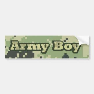 Armee-Junge Autoaufkleber