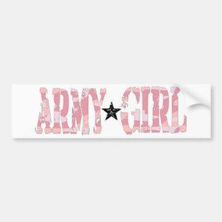 Armee-Mädchen Autoaufkleber