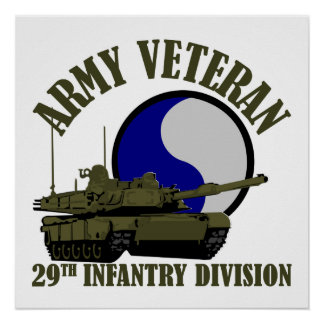 Armee-Veteran - 29. Identifikations-Behälter Poster