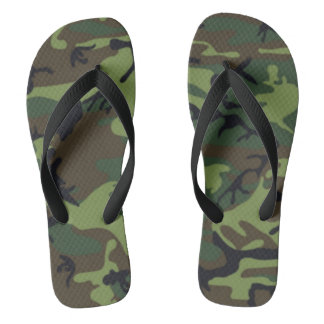 Armeeart-Camouflage Flip Flops