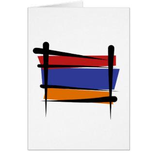 Armenien-Bürsten-Flagge Karte