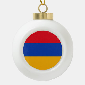 Armenien-Flagge Keramik Kugel-Ornament