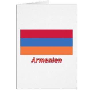 Armenien Flagge MIT deutschem Namen Karte