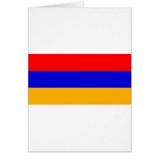 Armenien-Flagge morgens Karte