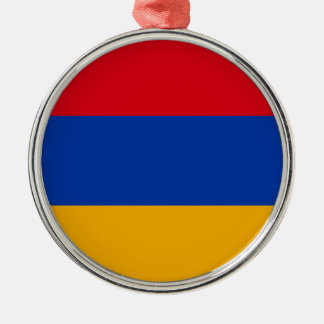 Armenien-Flagge Silbernes Ornament