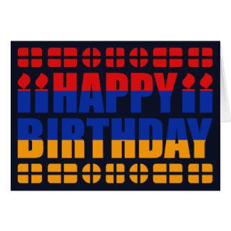 Armenien-Flaggen-Geburtstags-Karte Karte