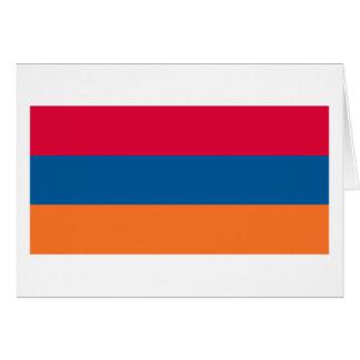 Armenien-Flaggen-Gruß-Karte Karte