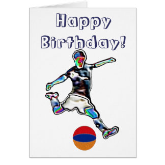 Armenien-Fußballfußball-Geburtstagskarte Karte