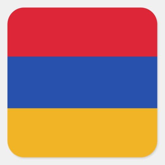 Armenien Quadratischer Aufkleber
