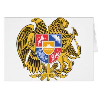 Armenien-Wappen morgens Karte