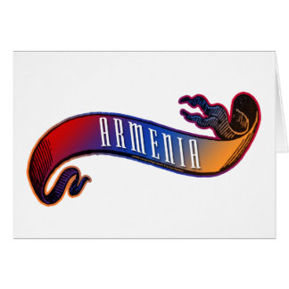 Armenische Flaggen-Fahne Karte