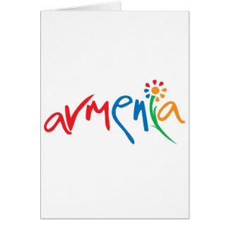 Armenisches offizielles Logo Karte